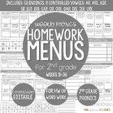 Weekly Phonics Activities Homework for 2nd Grade (Weeks 31-36)