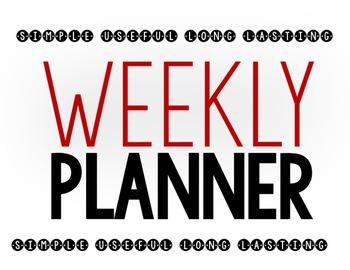 Weekly Planner-- EDITABLE