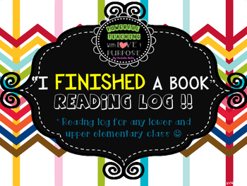 READING LOG - for finished books !