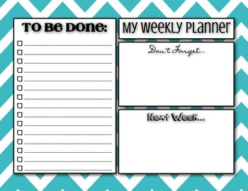Weekly Planner To Do List - Chevron