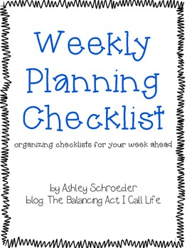 Weekly Planning Checklist