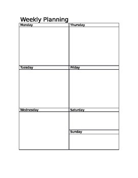 Weekly Planning Template *EDITABLE