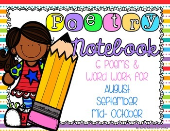 Weekly Poems for Aug, Sept, Oct w/ lesson plans for daily