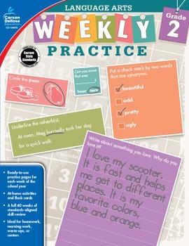 Weekly Practice Language Arts Grade 2 SALE 20% OFF 104876