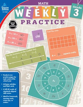 Weekly Practice Math Grade 3 SALE 20% OFF 104883