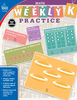 Weekly Practice Math Grade K SALE 20% OFF 104880
