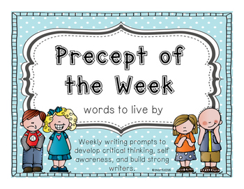 Weekly Precepts - Wonder by R.J. Palacio