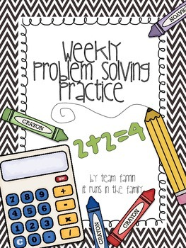 Weekly Problem Solving Practice: Read, Draw, and Write!