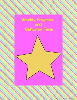 Weekly Progress & Behavior