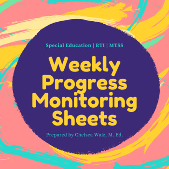 Weekly Progress Monitoring Tracking Sheet [For Teachers]