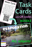 4th Grade Task Cards with QR codes BUNDLE {All subjects!}