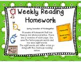 Weekly Reading Fluency Homework Part 2