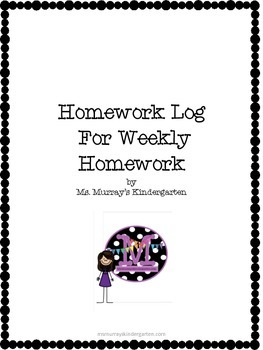 Weekly Reading Homework Log