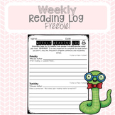 Weekly Reading Log (Freebie)
