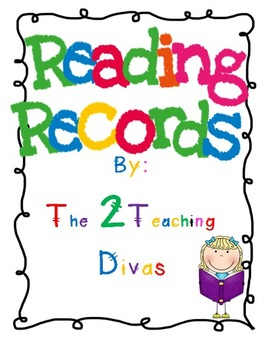 Weekly Reading Records for Nonfiction by The 2 Teaching Divas