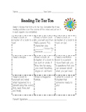 Weekly Reading Tic Tac Toe