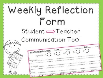 Weekly Reflection Form: Classroom Communication Tool