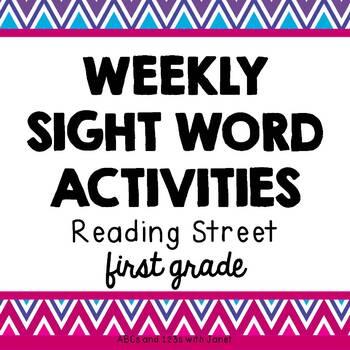 Weekly Sight Word Activities {1st Grade}