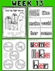 Weekly Sight Word Pack- Week 13