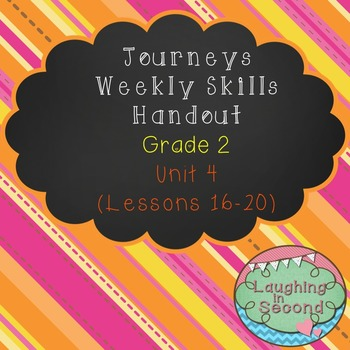 Weekly Skills Handout - Grade 2 - Houghton Mifflin Journey