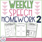 Weekly Speech Therapy Homework 2