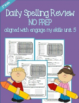 First Grade Daily Spelling Review-sampler