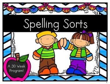 Weekly Spelling Sorts