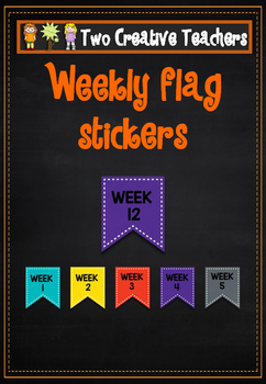 Weekly Stickers / Labels - Flags