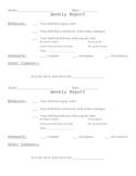 Weekly Student Behavior Report