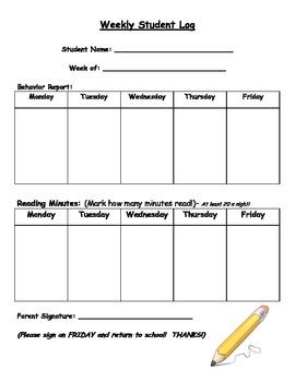 Weekly Student Log!