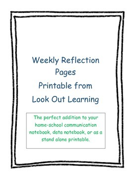 Weekly Student Reflection Pages