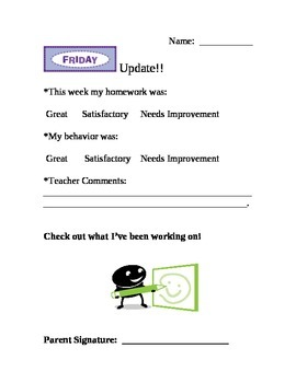 Weekly Student Update for Parents
