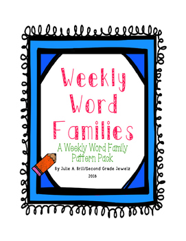 Weekly Word Family Charts