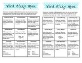 Weekly Word Study Menu