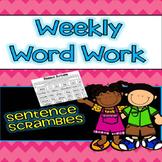 Word Work Sentence Scrambles