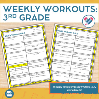 Weekly Workouts Language Arts 3rd Grade Preview/Review Wee