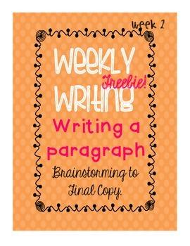 Weekly Writing - Responsibility - Freebie - Week Two!