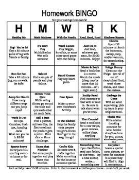 Weekly Writing Homework