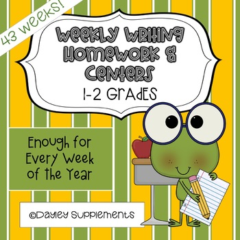 Weekly Writing Homework & Centers for Every Week of the Sc