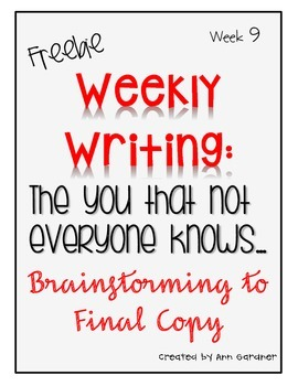 Weekly Writing - The You That Not Everyone Knows... - Week