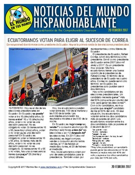 Weekly news summaries for Spanish students: February 20, 2017