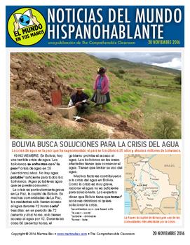 Weekly news summaries for Spanish students: November 20, 2016