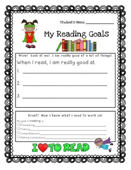 Weekly or Monthly Individual Student Reading Goals