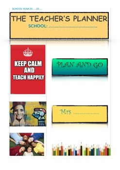 Weekly planner back to school
