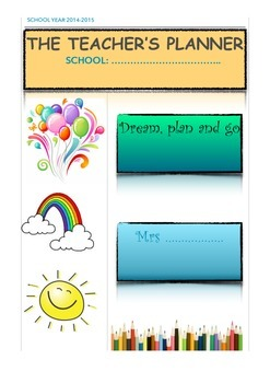 Weekly planner covers back to school