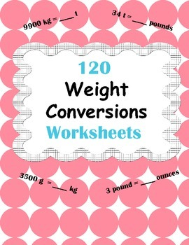Weight Conversions Worksheets