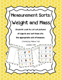 Weight and Mass Measurement Sort