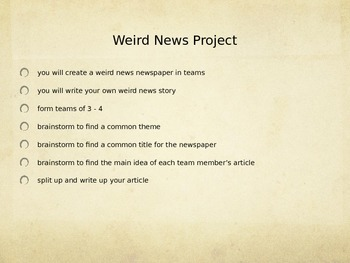 Weird News Project