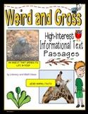 Weird and Gross:  High-Interest Informational Text Passages