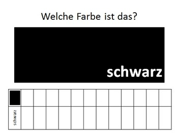 Welche Farbe?  German Colors